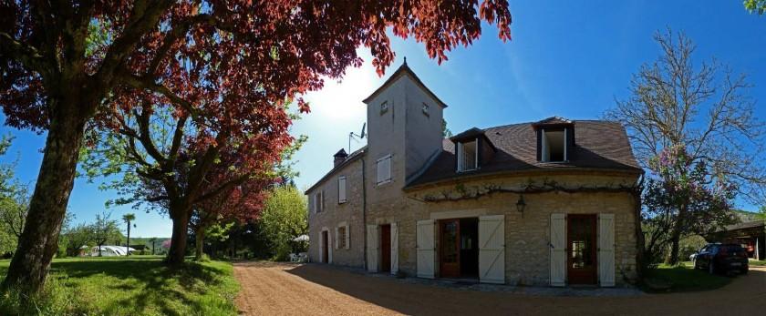 Panoramique des 2 maisons - (2013)