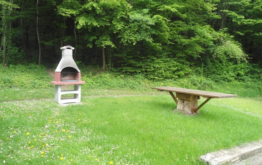 Location de vacances - Chalet à Osenbach - Coin barbecu