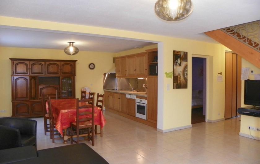 Location de vacances - Chalet à Rupt-sur-Moselle - salon cuisine