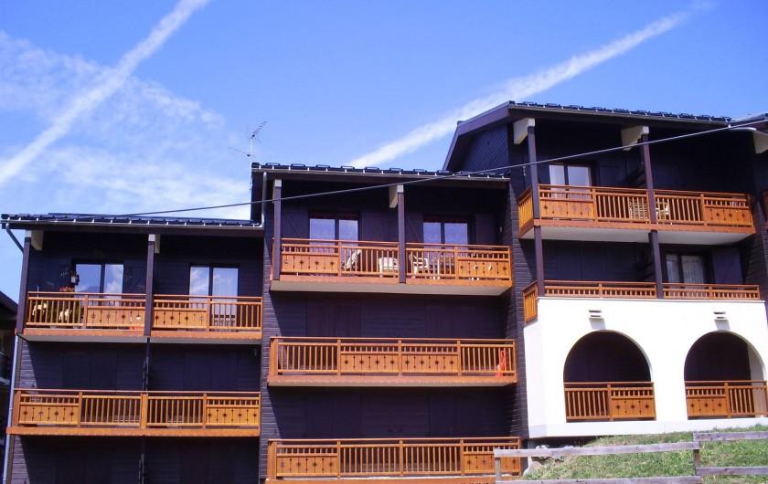 Location de vacances - Appartement à Les Deux Alpes - Vue du balcon sud . Appartement au 2ème étage