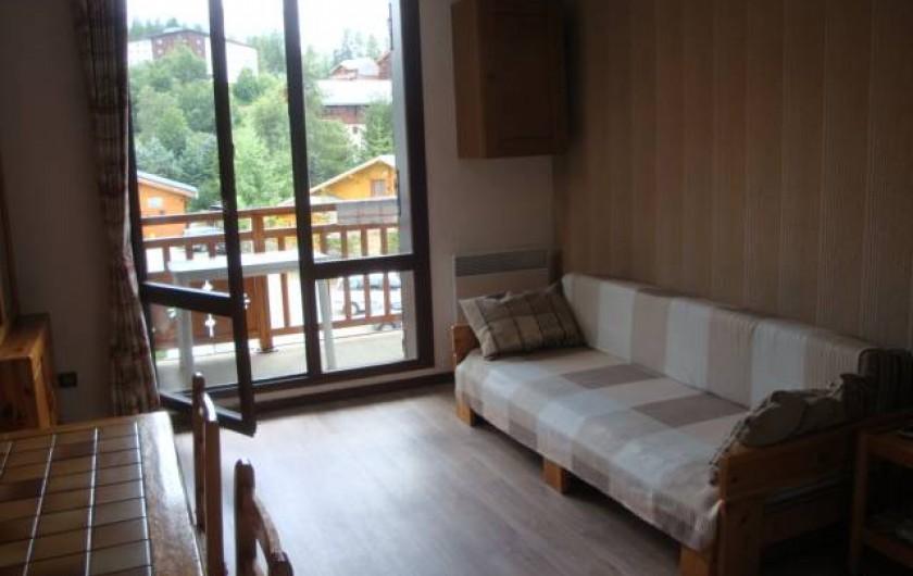 Location de vacances - Appartement à Les Deux Alpes - Séjour;  banquette lit