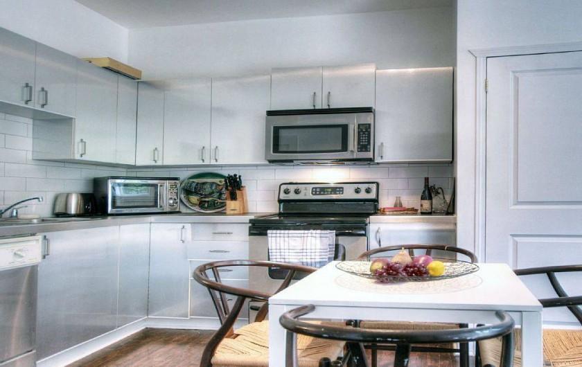 Location de vacances - Appartement à Montréal - Cuisine et ses équipements