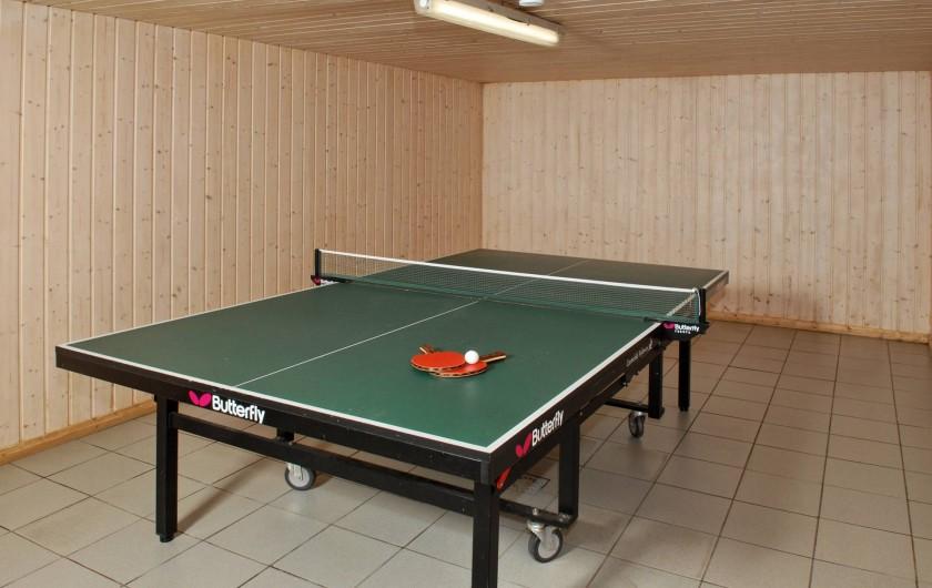 Location de vacances - Gîte à Malmedy - Salle de ping-pong