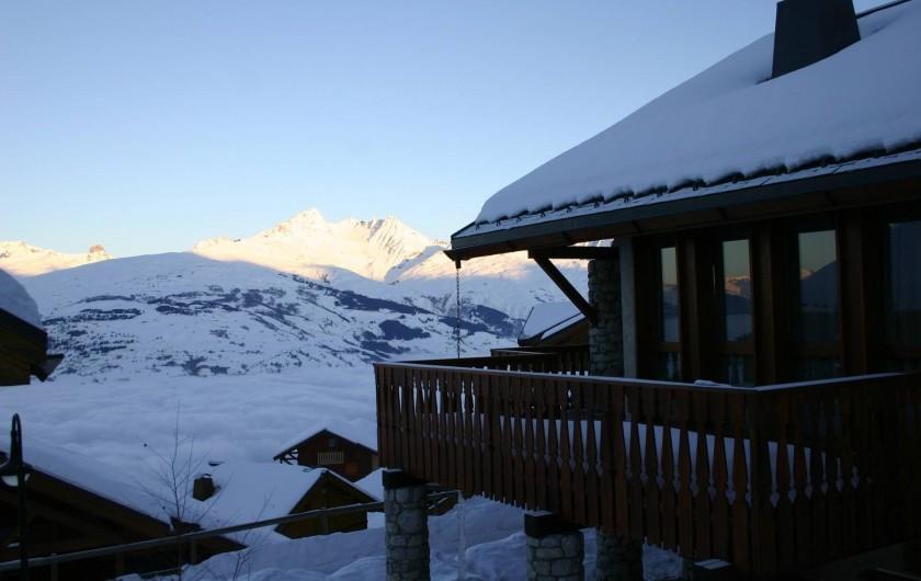 Location de vacances - Chalet à Vallandry - Vue du chalet en hiver