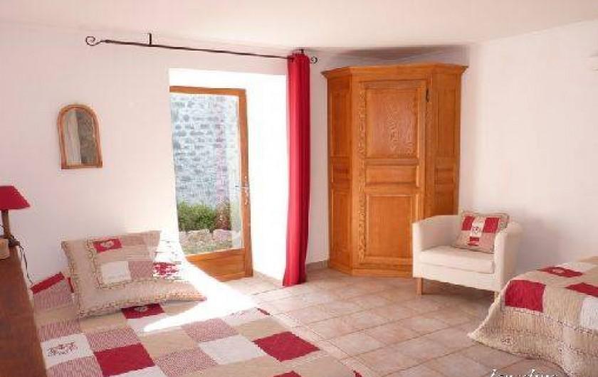 Location de vacances - Villa à Labeaume - chambre n°2 lit en 90x200