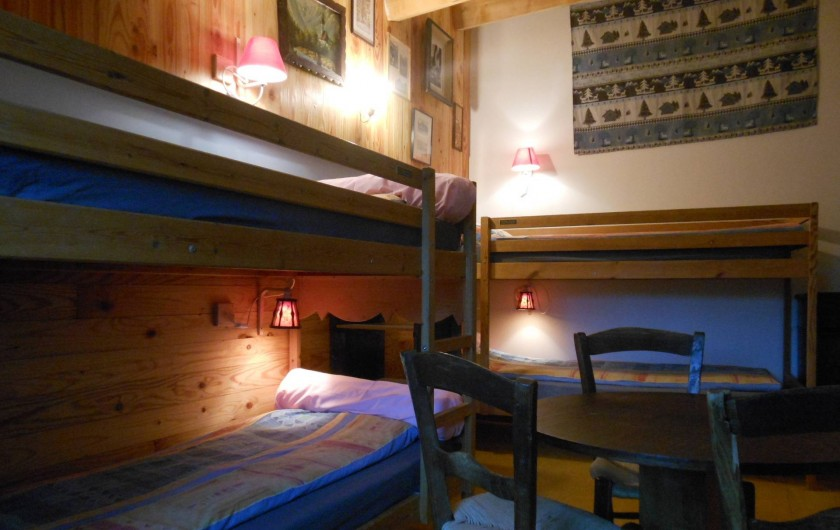 Location de vacances - Gîte à Gras - Le refuge : 3 lits superposés