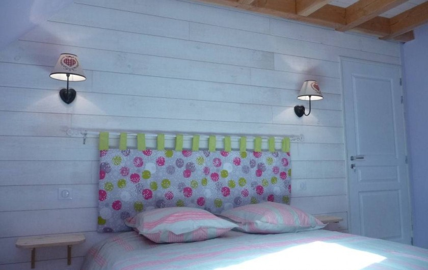 Location de vacances - Gîte à Marchastel - 1er étage - chambre 1 : lit en 160 x 200