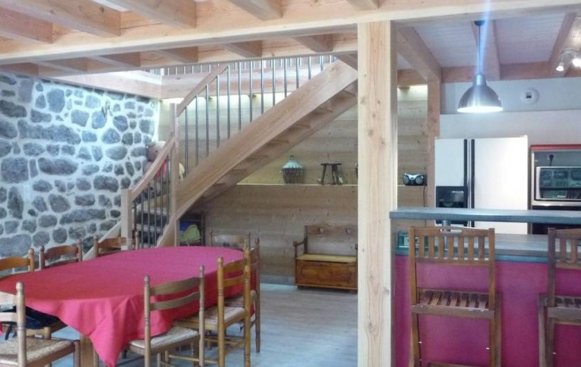 Location de vacances - Gîte à Marchastel - rez-de-chaussée - séjour