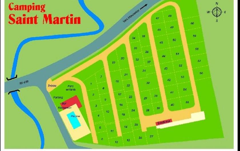 Location de vacances - Bungalow - Mobilhome à Céret - Plan du Camping
