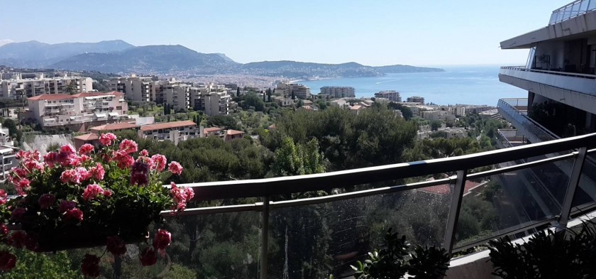 La vue du balcon - côté salon