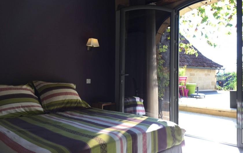 Location de vacances - Chambre d'hôtes à Carsac-Aillac - Chambre Kiwi.