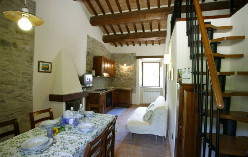 Location de vacances - Appartement à Gubbio - Séjour appartement Fiordaliso