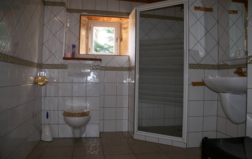 Location de vacances - Gîte à Lacam-d'Ourcet - La salle de bain, étage du dessous