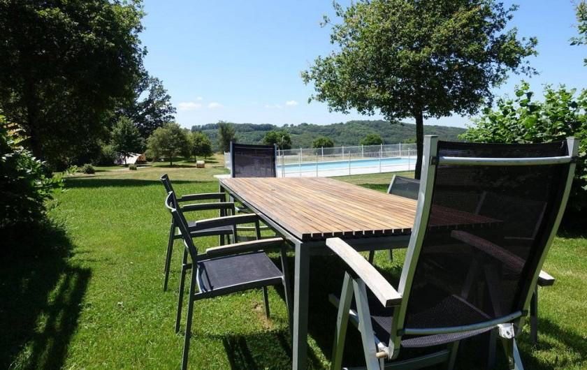 Location de vacances - Gîte à Lacam-d'Ourcet - Dans le jardin.
