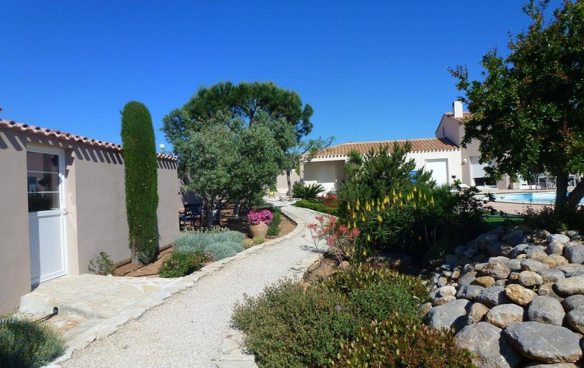 Location de vacances - Villa à La Palme - le cabanon du jardin
