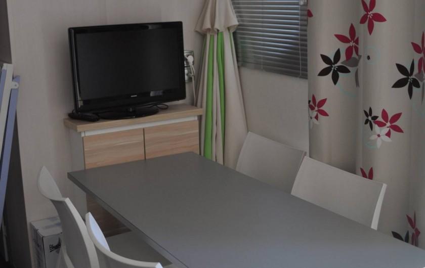 Location de vacances - Camping à Argelès-sur-Mer - salle a manger