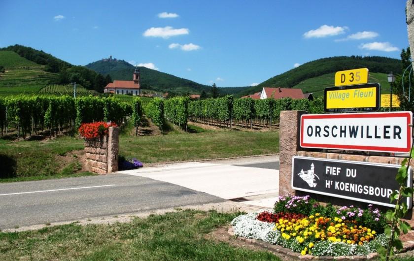 Location de vacances - Gîte à Orschwiller - Fief du château du Haut-Koenigsbourg  centre Alsace