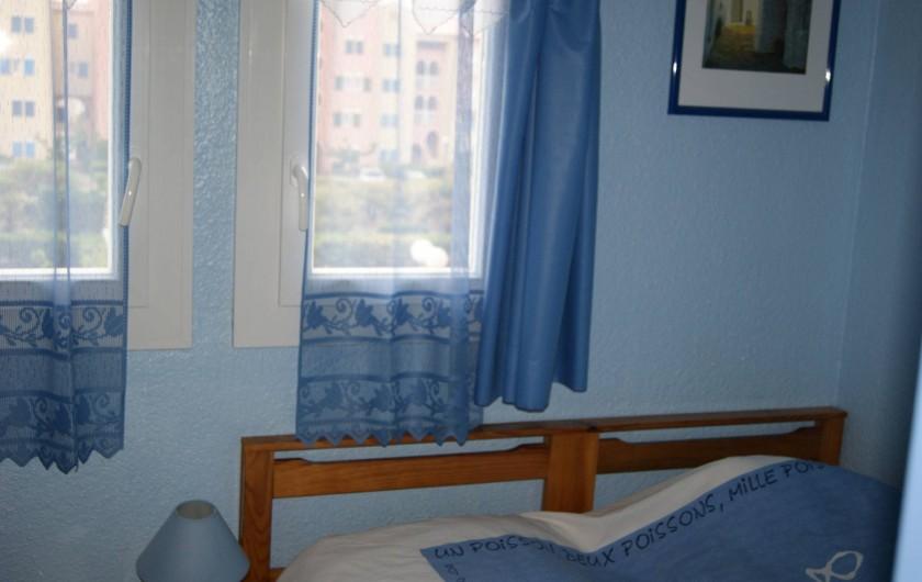 Location de vacances - Appartement à Le Barcarès - vue chambre 1