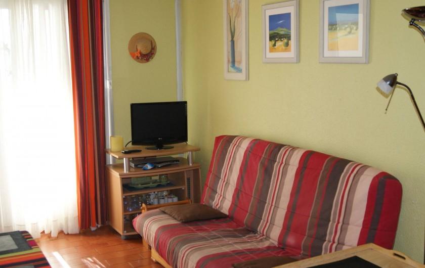 Location de vacances - Appartement à Le Barcarès - vue pièce principale 1
