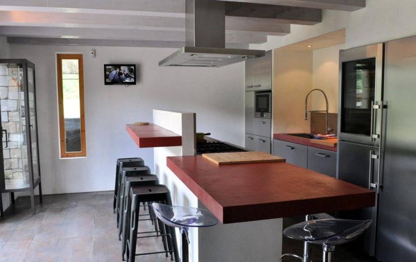 Location de vacances - Mas à Barjac - cuisine tout équipée