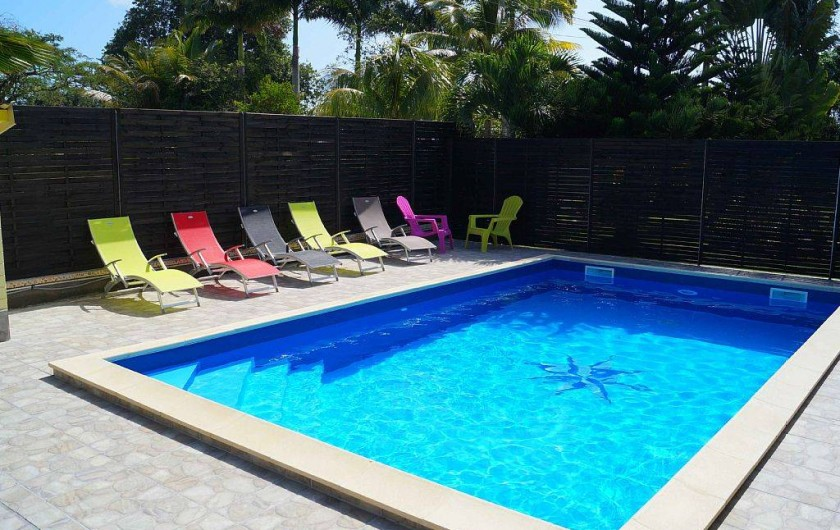Location de vacances - Villa à Douville - Profiter d'une baignade rafraîchissante. 2 jets pour  massage détente.