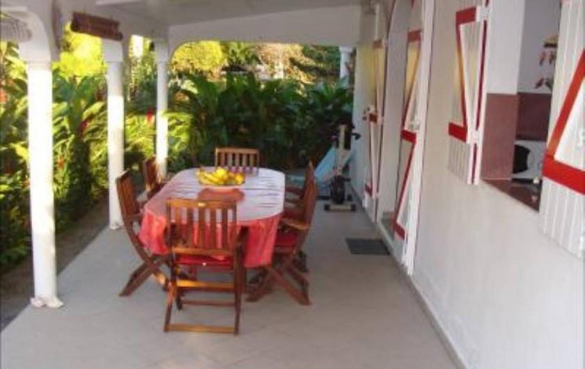 Location de vacances - Villa à Douville - 2 Terrasses privées, hamac, chaises longues pour vous détendre dans le Calme