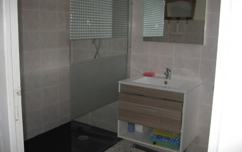 Location de vacances - Gîte à Isle-sur-Marne - salle de bains avec douche et wc