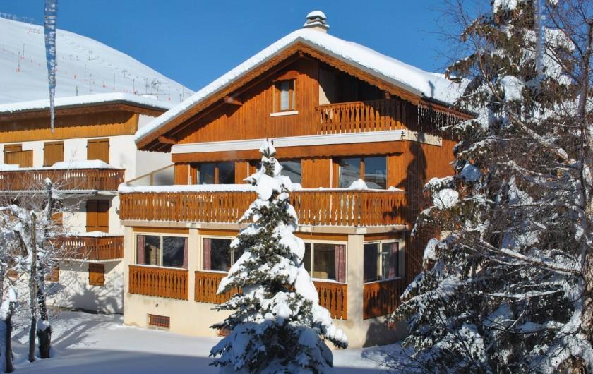 Location de vacances - Chalet à L'Alpe d'Huez - Chalet face sud
