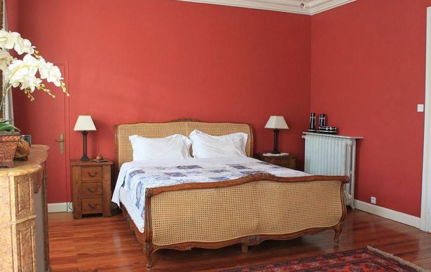 Location de vacances - Villa à Bram - Chambre double ensuite douche, lavabo