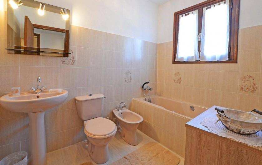 Location de vacances - Villa à Porto-Vecchio - SALLE DE BAIN AVEC FER A REPASSER ET SECHE CHEVEUX grande villa