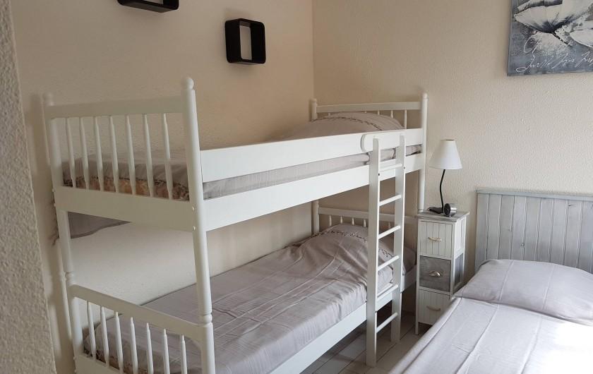 Location de vacances - Appartement à Port Leucate - Chambre lit double + lit gigogne