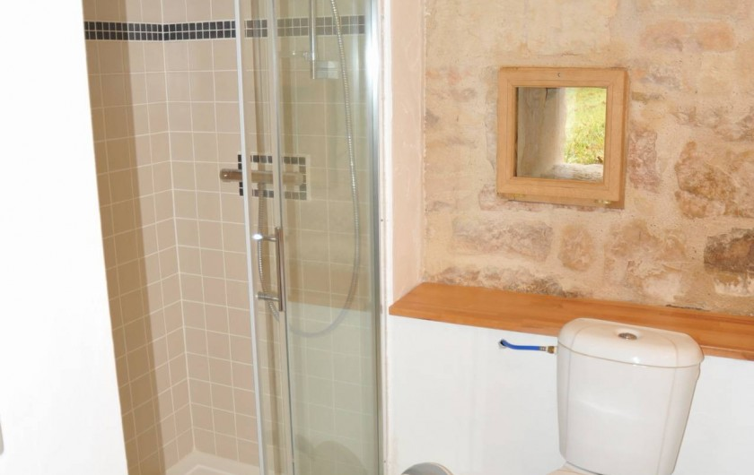Location de vacances - Gîte à Corn - douche a l'italienne et wc
