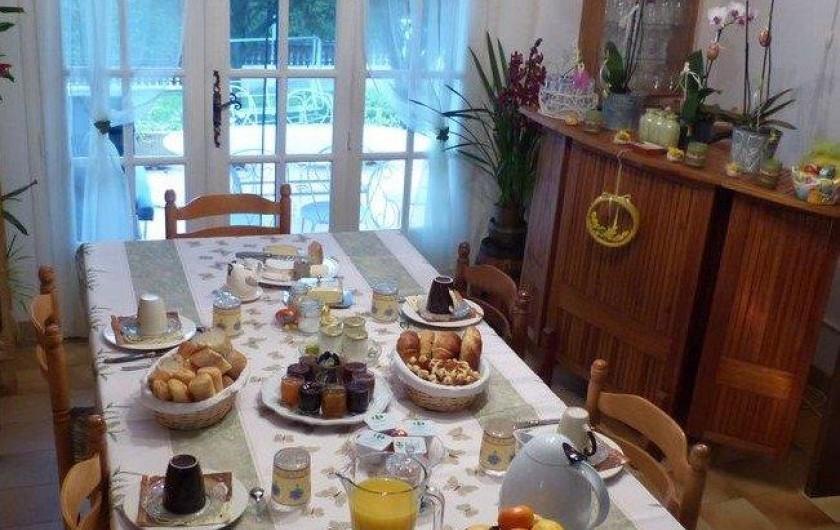 Location de vacances - Chambre d'hôtes à Comps - Petits déjeuners en intérieur