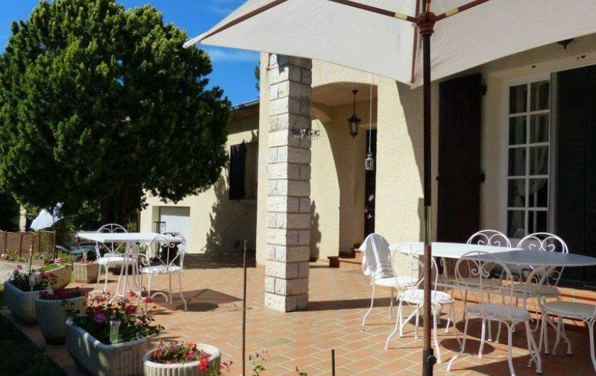 Location de vacances - Chambre d'hôtes à Comps - Terrasse rez-de chaussée