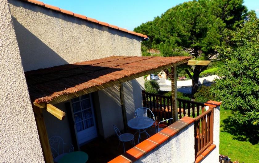 Location de vacances - Chambre d'hôtes à Comps - terrasses chambre