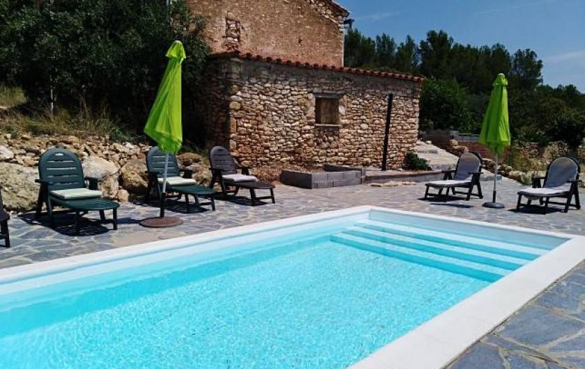 Location de vacances - Mas à Atzeneta del Maestrat - Piscine