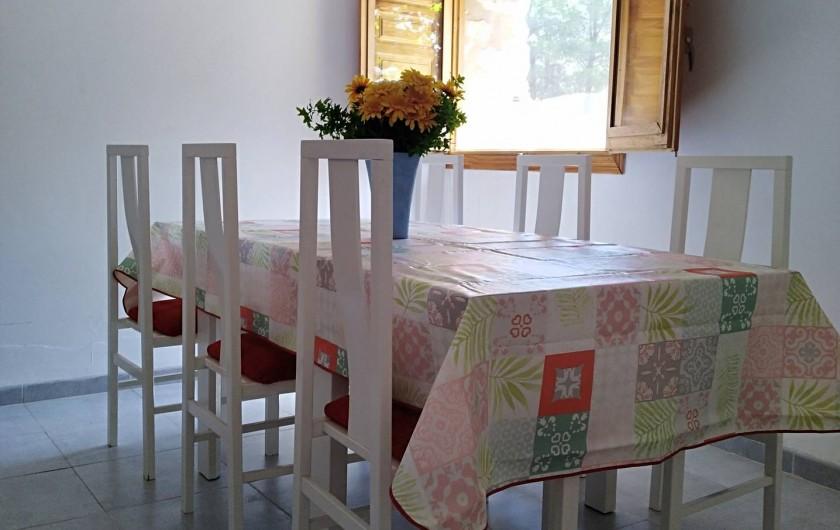 Location de vacances - Mas à Atzeneta del Maestrat - Salle à manger