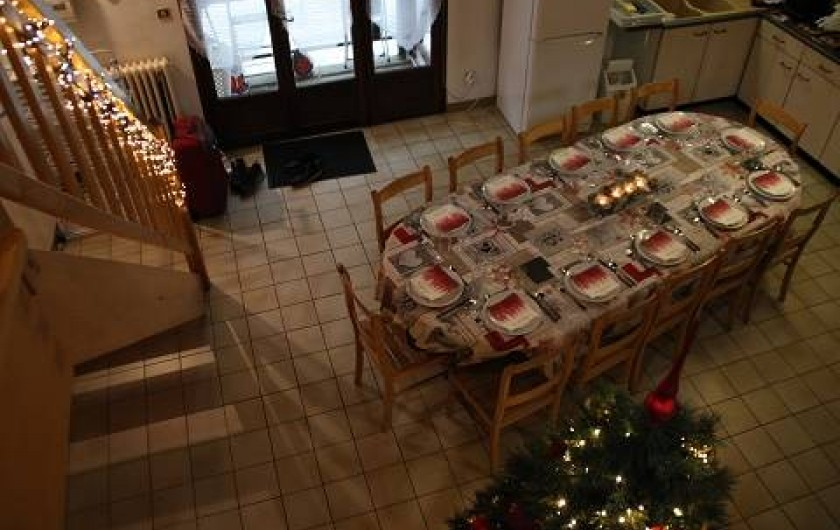 Location de vacances - Gîte à Rochesson - Living cuisine Chalet
