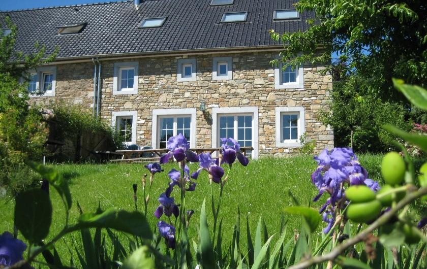Location de vacances - Gîte à Theux - Le soleil inonde la terrasse !
