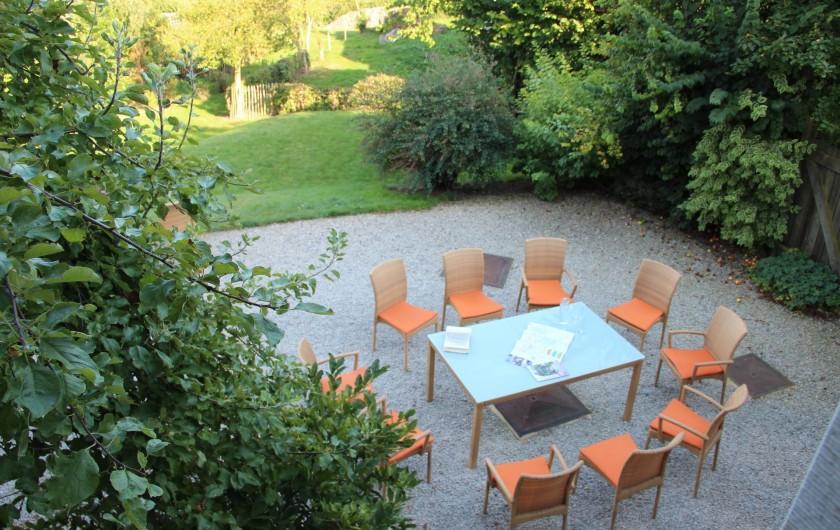 Location de vacances - Gîte à Theux - La terrasse vue d'en haut