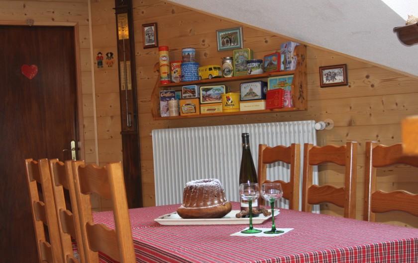 Location de vacances - Gîte à Nothalten - Le coin repas