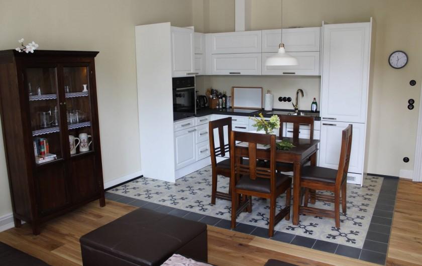 Location de vacances - Appartement à Bad Ems - Chambre de séjour avec coin de cuisine