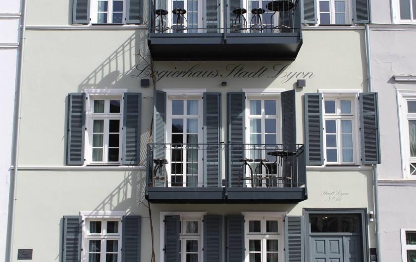 Location de vacances - Appartement à Bad Ems - Vue facade