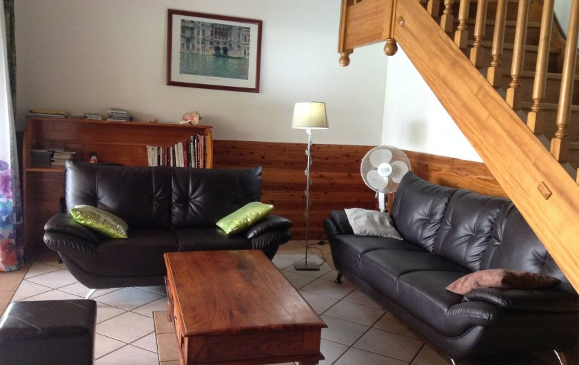 Location de vacances - Villa à Saint-Pierre - salon n° 2 détente face à la piscine
