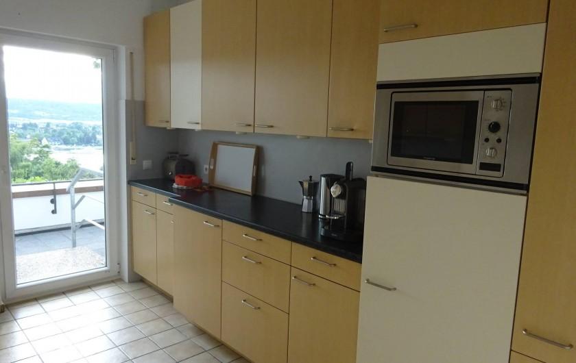 Location de vacances - Appartement à Linz - Cuisine Avec accès directe sur la terrasse