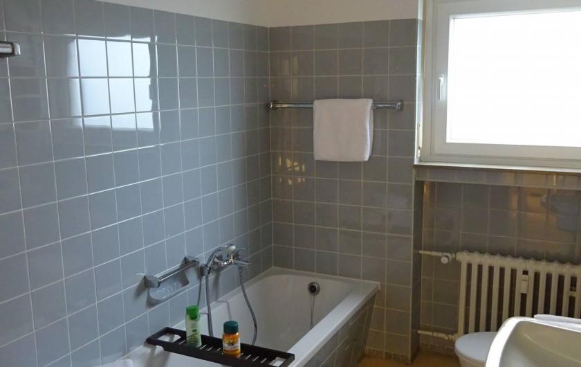 Location de vacances - Appartement à Linz - Salle de bain Avec baihnoire, douche, WC et lavabo