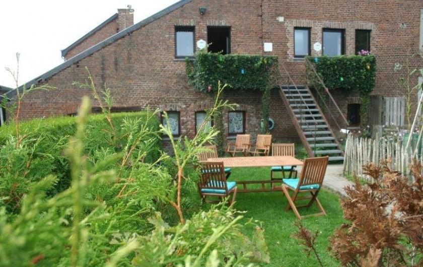 """Location de vacances - Gîte à Durbuy - La terrasse de notre gite """"Au Cap3"""