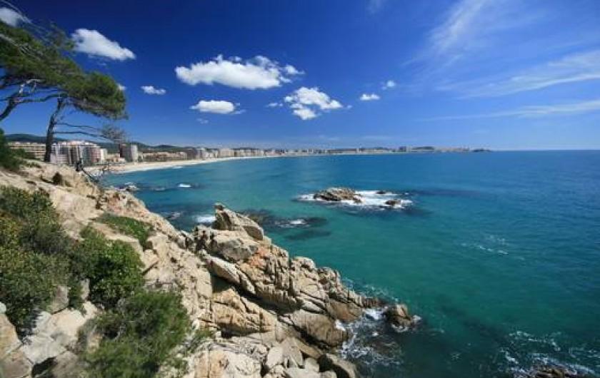 Location de vacances - Appartement à Platja d'Aro - vue sur l'océan