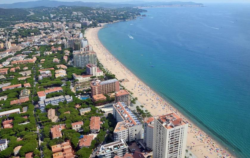 Location de vacances - Appartement à Platja d'Aro - vue aérienne de Platja d'aro