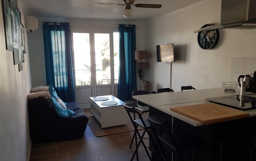 Location de vacances - Appartement à Argelès-sur-Mer - pièce a vivre